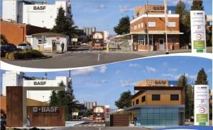 Render antes y después del acceso de BASF Española frente a La Canonja - experiencia