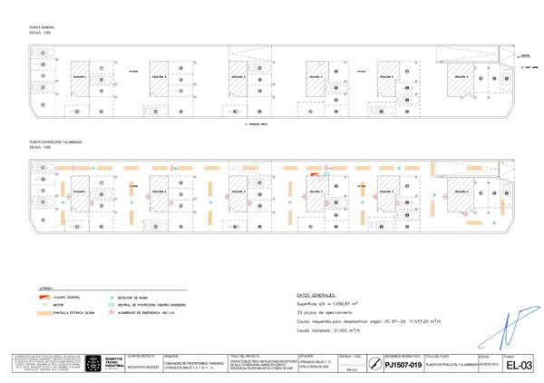 Plano parquing edificio - experiencia